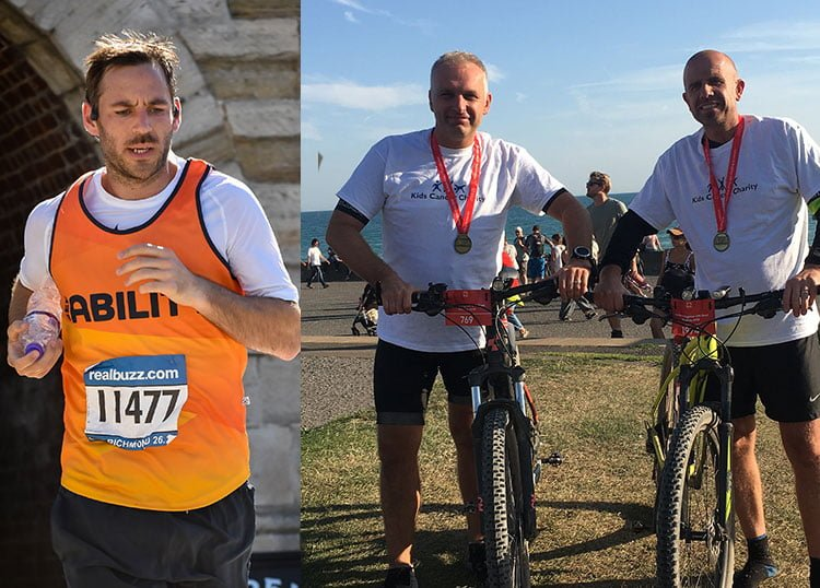 Marcus and Mark Complete Marathon and Cycle
