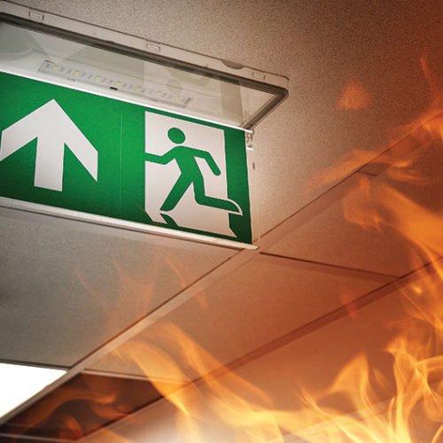 Fire Smoke Alarm Fire Escape Signage